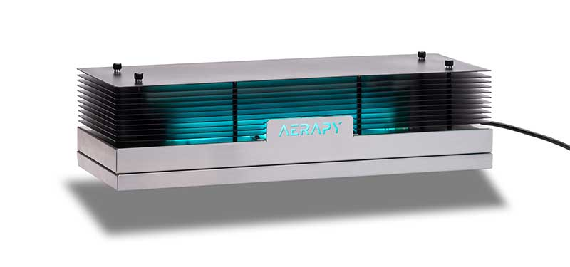 Photo of Aerapy's new Zone180 upper air UV disinfection product